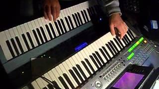 keyboard-Sash-Ganbareth( my cover techno dance keyboard synth Motif XS Virus Ti Tyros)