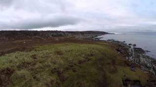 Lochgilphead Loch Sween House Scotland Aerial Footage