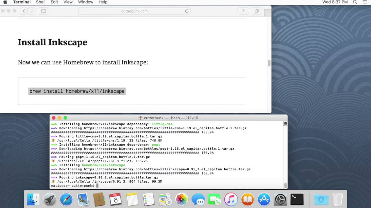 Inkscape 0 92 installation on OSX