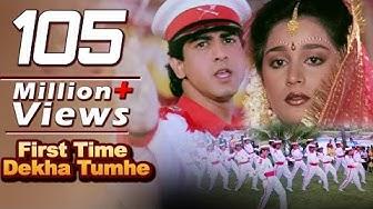 First Time Dekha Tumhe Hum  | 4K Video Songs | Jaan Tere Naam | Kumar Sanu | Ronit Roy