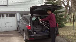 Multi-Lift w/PIR Wheelchair Adapter in Honda Odyssey:  Loading the Wheelchair (with explanation) 2