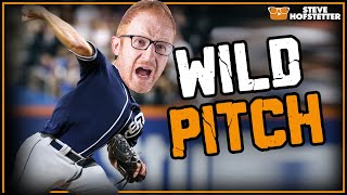 Steve Hofstetter pitches for the San Diego Padres