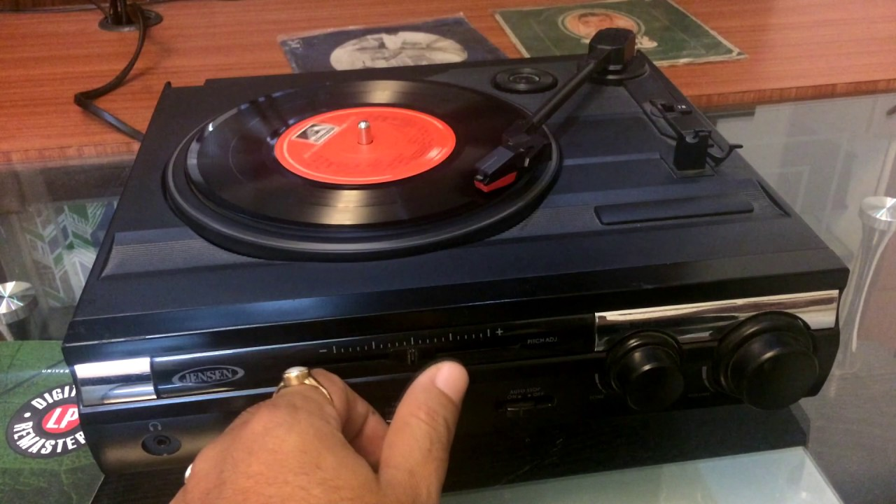 Charming Jensen JTA 230 3 Speed Stereo Turntable With Built In Speakers | Review