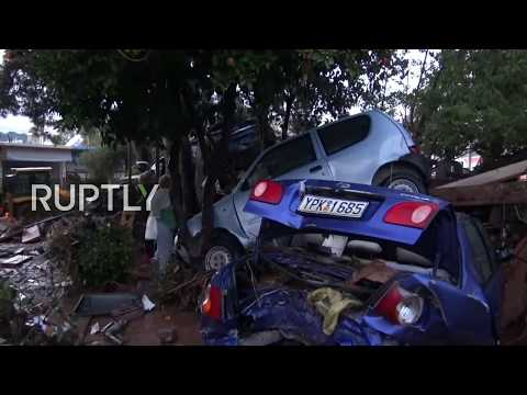 LIVE from Athens' suburbs following deadly overnight floods