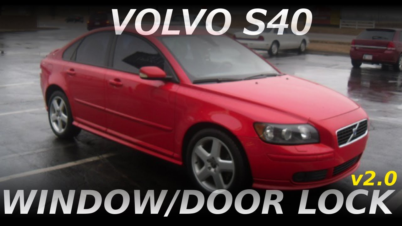 hight resolution of volvo s40 window and door lock actuator removal 2004 5 2011 v2 0