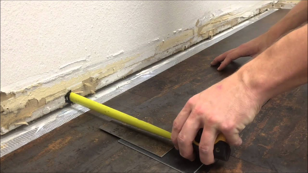 How To Install Plank Vinyl Glue Down Youtube
