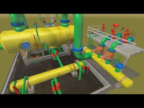 GDS - 3D LASER SCAN and MODEL INTEGRATION INSIDE LNG FACILITY