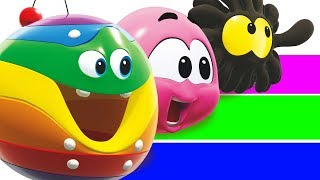 Learn Colors With GIANT SLIDE and SQUISHY Wonderballs by Cartoon Candy