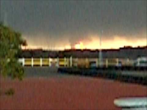 March 11, 2011 Earthquake in Japan Cosmo Oil Plant Explosion