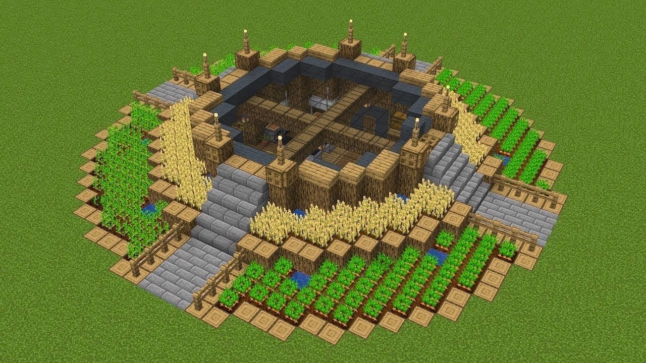 Minecraft - How to build a circle house