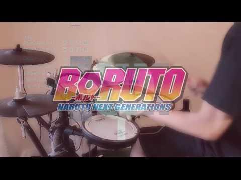 『Sayonara Moon Town Scenarioart』  Boruto  Naruto Next Generations ED2 Full   Drum Cover 叩いてみた