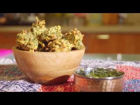 Receta de Pakoras de espinacas - Anjalina Chugani