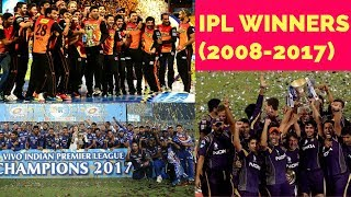 IPL Winners List From 2008 To 2017 || IPL Winners Of All Season