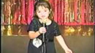 3yr old sings song from titanic my heart will go on