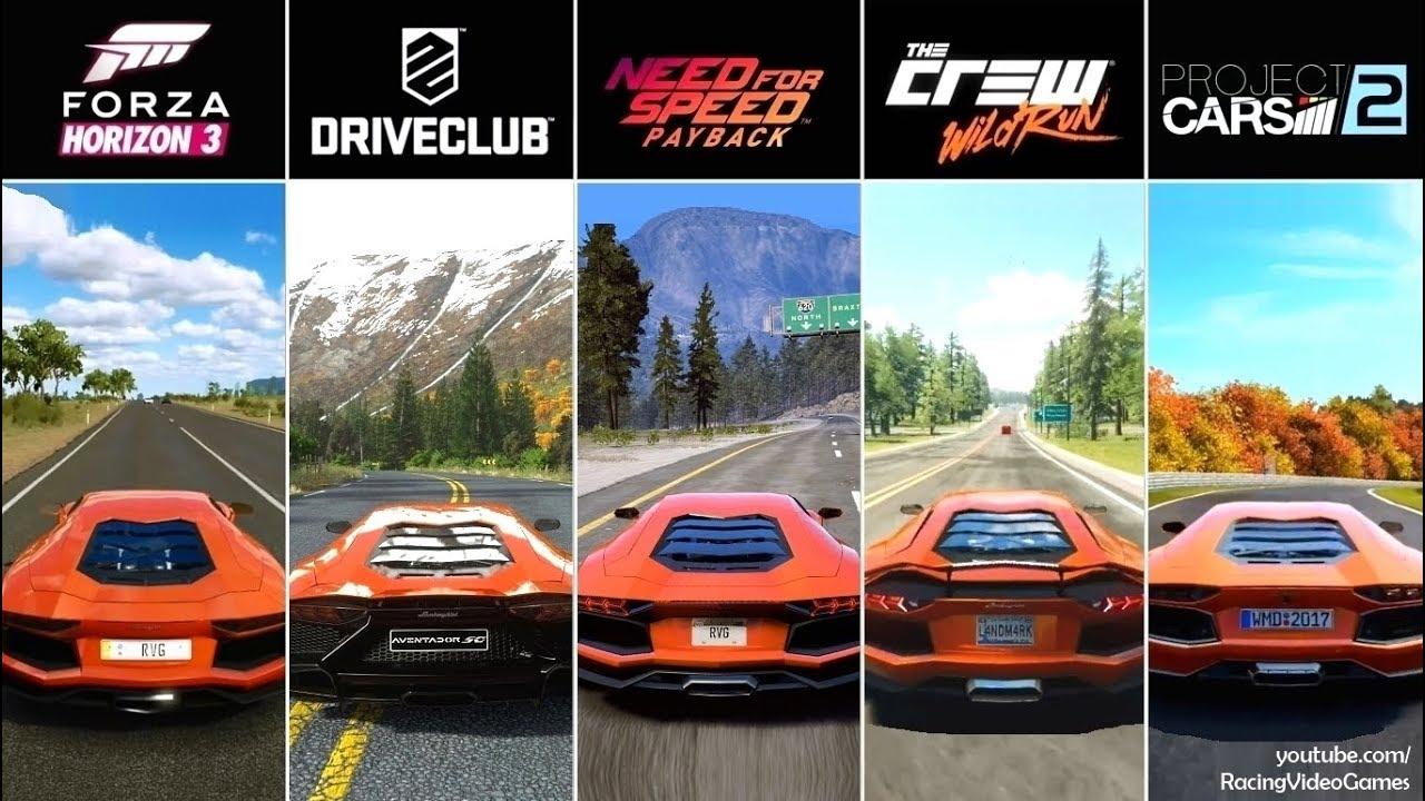 NFS Payback vs. Forza Horizon 3 vs. DriveClub vs. The Crew vs ... on