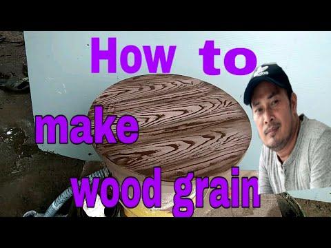 DIY-how to create wood grain        (paano maghaspe)