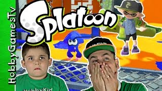 Splatoon Game Play Online Multiplayer Webcam HobbyPig HobbyDad One On One by HobbyGamesTV