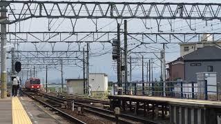 [出場試運転‼️]名鉄3500系未更新 3518f (試運転豊明行き)新安城駅 通過‼️
