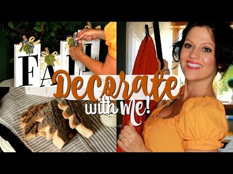 FALL DECORATE WITH ME 2019! FARMHOUSE FALL DECORATING IDEAS FOR A COZY HOME🧡