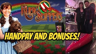 HANDPAY RUBY SLIPPERS WITH REX WITH BONUSES TOO