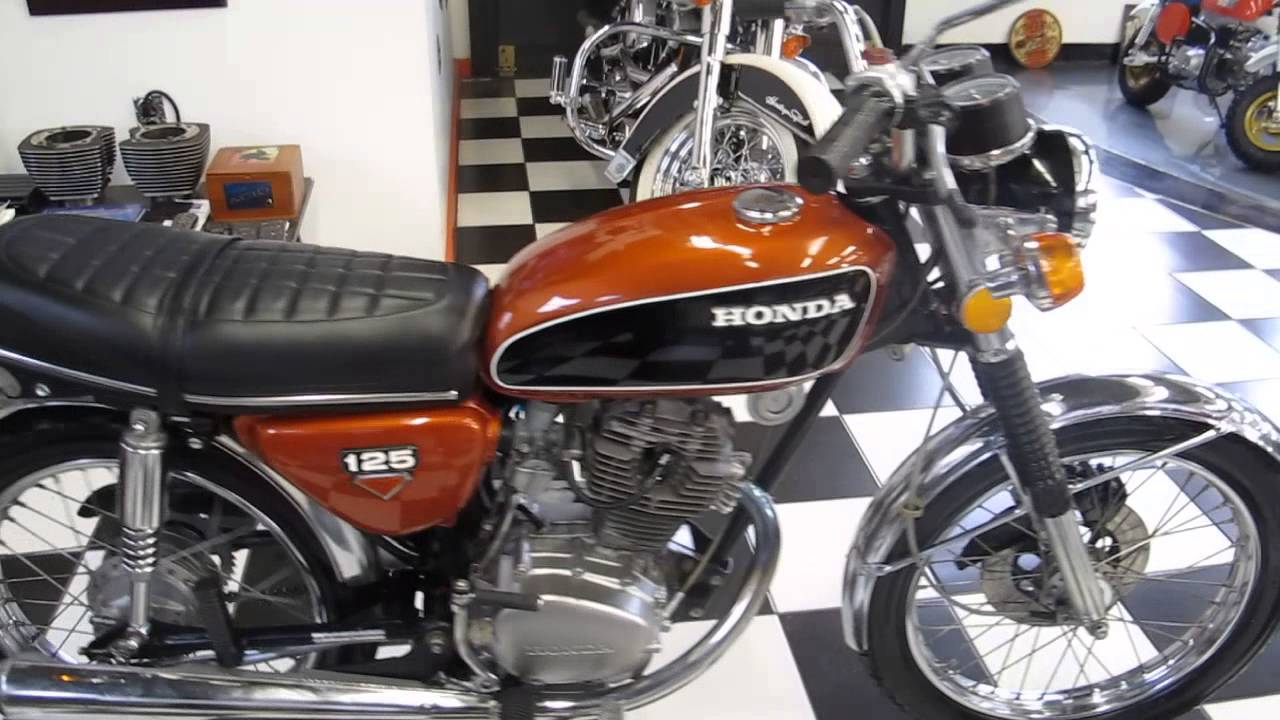 1974 honda cb125 watch and hear it run  [ 1280 x 720 Pixel ]
