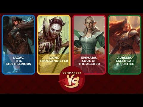 Commander VS S13E1: Lazav vs Izoni vs Emmara vs Aurelia [EDH]