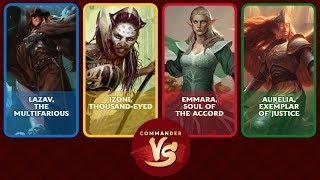 Commander VS S13E1 Lazav vs Izoni vs Emmara vs Aurelia EDH