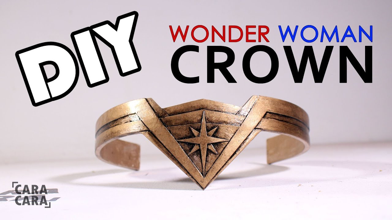 How To Make Wonder Woman Crown From Cardboard Youtube
