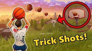 FORTNITE EPIC TRICKSHOTS! *NEW* Basketball Trickshots in Fortnite! (Fortnite Battle Royale)