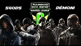 R6S Warsol League - 5Gods vs Demoni 3. kolo