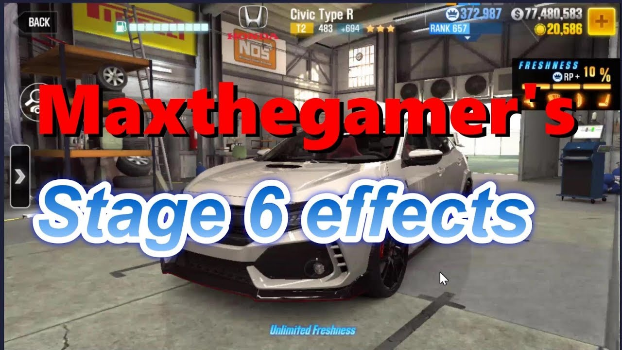 CSR2 Civic Type R Stage 6 Effects by Maxthegamer : LightTube