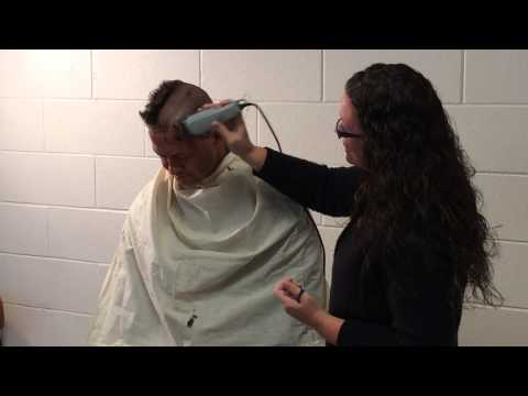 Columbia HS Principal shaves head for Hunger Games thumbnail
