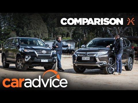 Comparison: Toyota Fortuner GXL v Mitsubishi Pajero Sport   CarAdvice