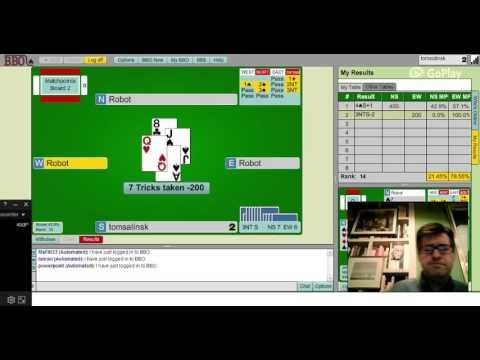 Bridge Base Online weekly instant tournament