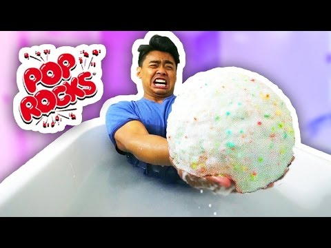 DIY GIANT POP ROCKS BATH BOMB!