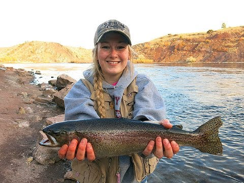 Exciting Marabou Jig Fishing For Trout On The Missouri River