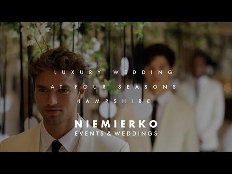 The Four Seasons, Hampshire wedding video.  By Wedding Planners Niemierko