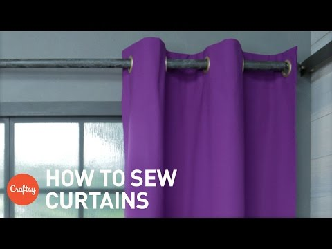 How To Sew Curtains: Easy Grommet Style With Free Pattern