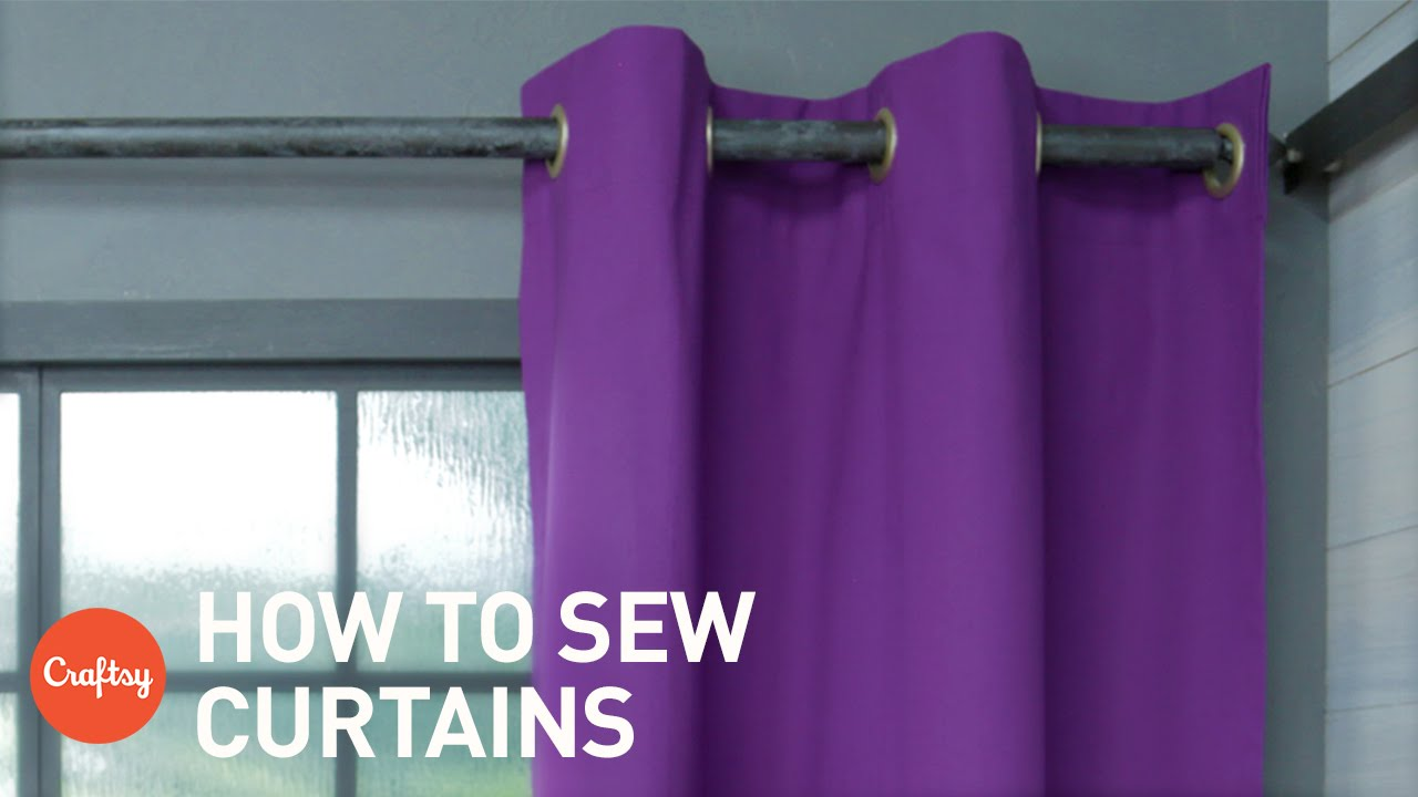 How Many Yards Of Fabric For Curtains How To Sew Curtains Easy Grommet Style With Free Pattern Craftsy Sewing Tutorials