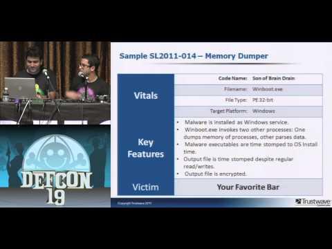 DEF CON 19 - Nicholas J. Percoco, Jibran Ilyas - Malware Freak Show 3