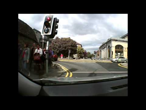 Driving through the City of Galway, Ireland on Sept. 11, 201