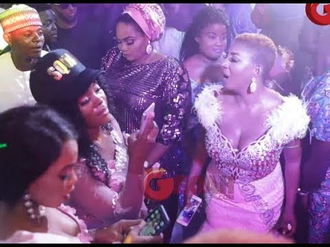 Mide Martins, Opeyemi Aiyeola, Toyin Aimakhu Party Like its a carnival at OBA Wedding 2018