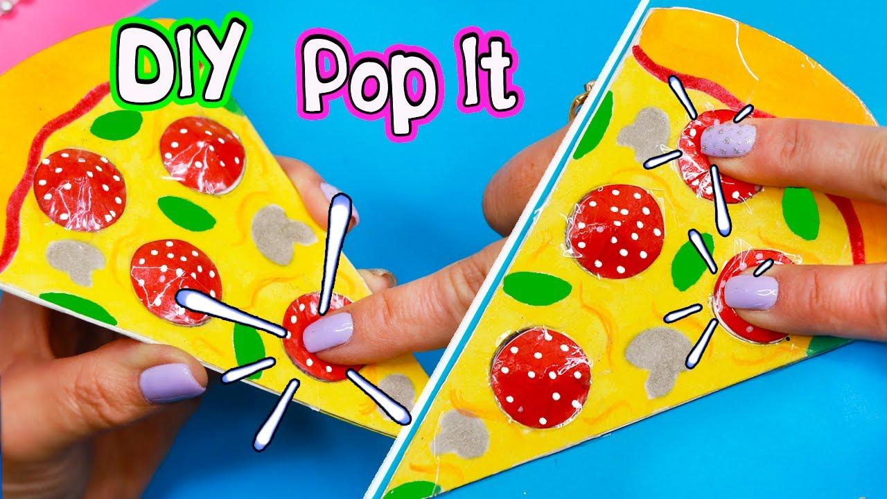 DIY Pop it ПИЦЦА ИЗ БУМАГИ своими руками! DIY Fidget toy pizza pop it paper