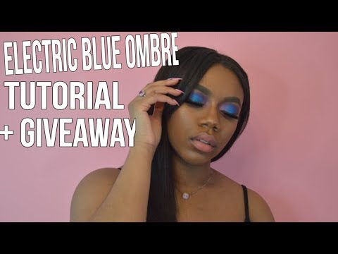 Dollie The Rebel | Electric Blue Ombre Tutorial + 1K GIVEAWAY