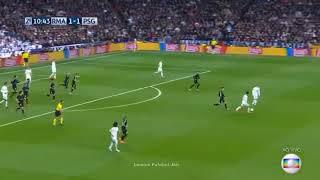 Rede Globo narração de Galvão Bueno Real Madrid 3 x 1 PSG - Melhores Momentos & Gols (COMPLETO)