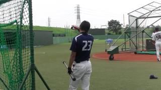 2012 7・14 遠征居残り練習の山田哲人.