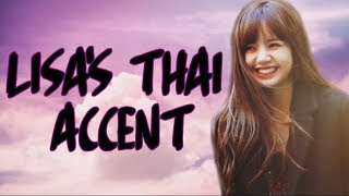 BLACKPINK LISA - THAI ACCENT ENGLISH COMPILATION ♡