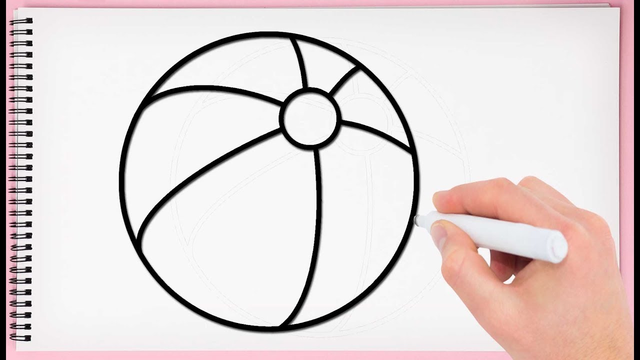 How to draw ball step by step learn drawing a ball easy and simple for kids