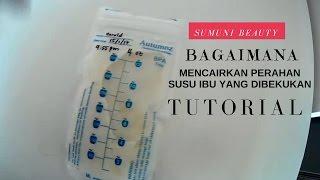 Bagaimana untuk mencairkan perahan susu ibu yang dibekukan ( Malaysia )