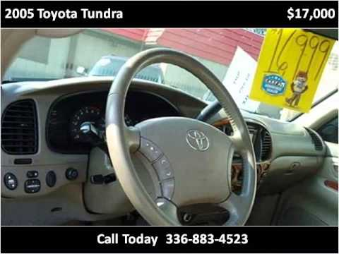 2005 toyota tundra used cars high point nc youtube. Black Bedroom Furniture Sets. Home Design Ideas
